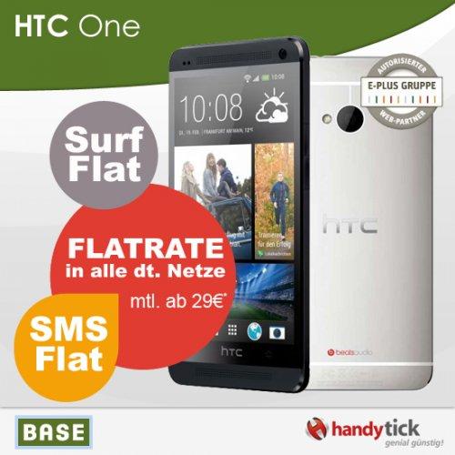 HTC ONE + BASE Allnet Flat für  31€/Monat