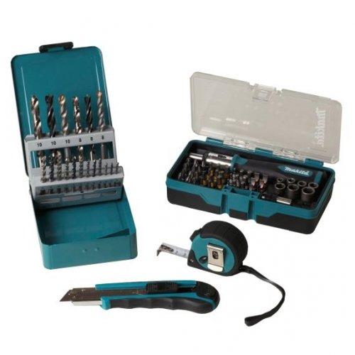 Nochmals günstiger als beim ebay Wow: Makita 67tlg.Bit-/Bohrer-Steckschlüssel-Set+Bandmaß+Cutter P-05153  für 23,99 € inkl. Versand