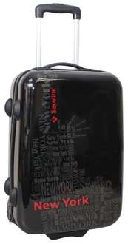 [Online real.de]Stylisher Saxoline Trolley in schwarz oder weiß 55cm (Handgepäck) für 38,47 €