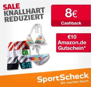 [Qipu Deal] Sport Scheck SALE : zusätzlich €10 Amazon.de-Gutschein* + 8€ Cashback (ab 70€)