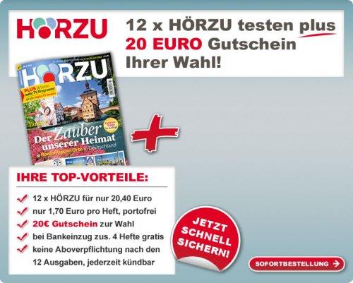 HörZu für 20,40 Euro plus 20 EuroMediamarkt bzw. 20 Euro Tankgutschein