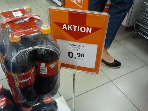 [MÜLLER / KASSEL] 1,5l Coca Cola, Cola Light, Mezzo Mix und Nestea für 0,99€ anstelle von 1,55€ (zzgl. 0,25€ Pfand)