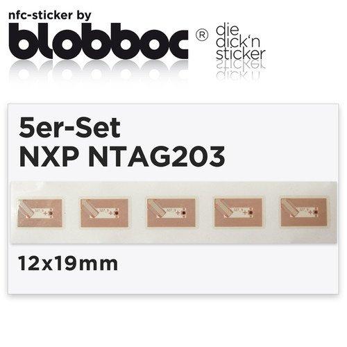 NFC Tag Set für 12x19mm NXP NTAG203 für 3,79€ @ Ebay