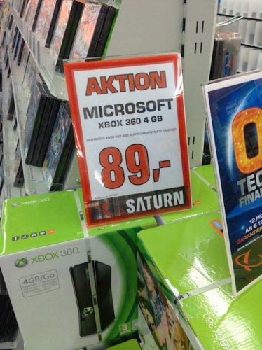 """Microsoft™ - Xbox 360 Konsole """"Arcade Slim"""" (4GB) für €89.- @Saturn Hildesheim"""