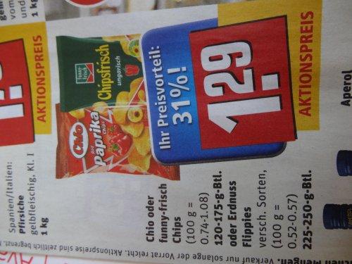 Offline: Funny-Frisch Chipsfrisch oder Chio Chips bei Rewe für 1,29€