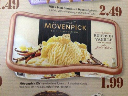 [Marktkauf - Südwest] Mövenpick Eiscreme verschiedene Sorten - 1,99
