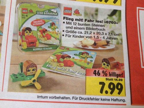 [Kaufland] Lego Duplo Steine und Co. Flieg mit! Fahr los! (6760) - 7,99 Euro