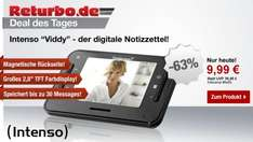 Intenso Viddy Video Messenger (7,1 cm (2,8 Zoll) Display), Kamera, Mikrofon, 3 Speichergruppen, Surprise-Funktion) schwarz @Returbo 6,99€