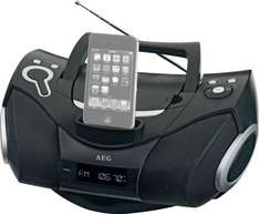 [real offline] AEG Boombox SR 4337 iP - tragbares CD-Radio mit Dockingstation