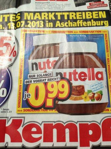 [offline Aschaffenburg Möbel Kempf] 450g Nutella, Samstag 13.07.2013