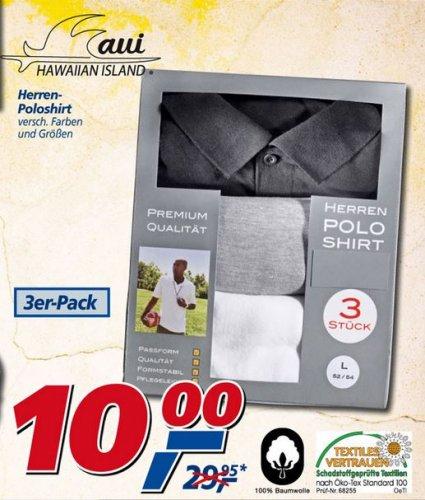3 Stück NoName Poloshirts -Versch. Farben/Größen- Bei real für nur 10€!