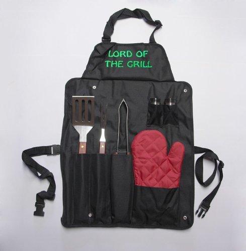 Profi Grillschürze inklusive Grillbesteck und Handschuh für 9,99€ inkl. Versand