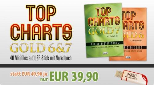 """[NOTEN & MIDIFILES] """"Top Charts Gold"""" 6 und 7 über 20% günstiger!"""