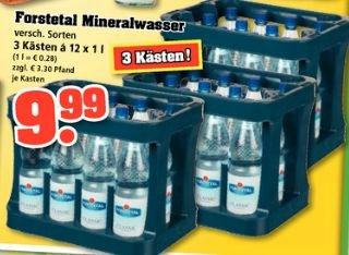 [Trink gut] 3 Kästen Forstetal Wasser zum Preis von 2