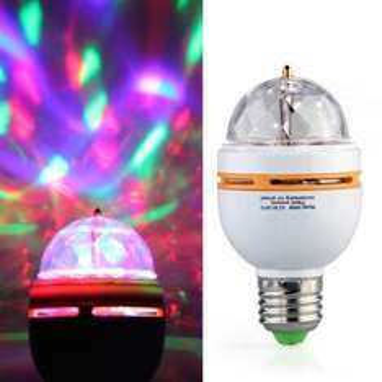 E27 3W LED RGB Rotierende Lampe für 6,68€