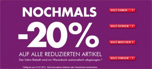 20% Extra-Rabatt auf reduzierte Schuhe bei GÖRTZ, z.B. Tommy Hilfiger, Gabor, Esprit