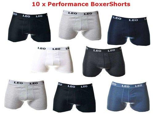 Leo Boxer Shorts 10er Pack für 15€ @Ebay