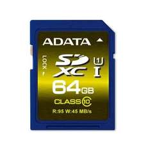 64 GB SDXC Card ADATA Premier UHS-I Class 10 für nur 54,40 EUR inkl. Versand