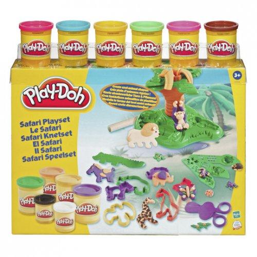"""Hasbro™ - Play-Doh """"Safari Knetset"""" (12 Dosen Knete + Zubehör) ab €11,25 [@Real.de]"""