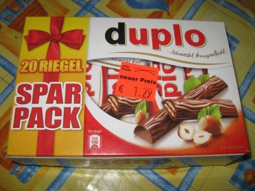 Penny Chemnitz- Duplo 20 Riegel Sparpack 1,29€ -TOP-PREIS- 6,5ct pro Duplo