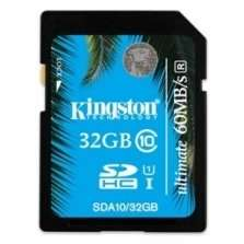 Kingston 32GB SDHC UHS-I Ultimate Speicherkarte Klasse 10 [60 MBs/35 MBs] für 21€ @Zoombits