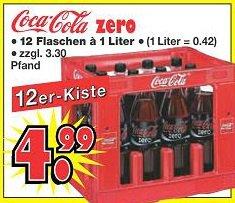 "Coca Cola Zero - 12x1L Kiste - 4,99€ @ ""Schaaf Kalkuliert"""