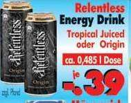 [LOKAL] RB-Becker: Dose Relentless Energy Drink Origin oder Tropical Juice