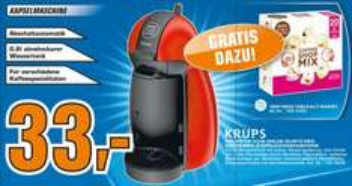 "Krups™ - Dolce Gusto Kaffeemaschine ""KP1006"" + Vielfalt-Paket (20 Kapseln) für €33.- [@Saturn Kiel]"