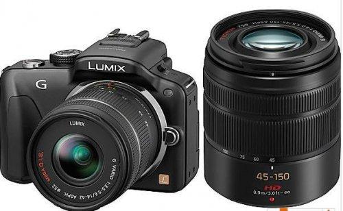 Panasonic Lumix DMC-G3  mit Doppelzoomkit 14-42mm/45-150mm und 16GB SDHC und  2.Original Akku, / @Saturn