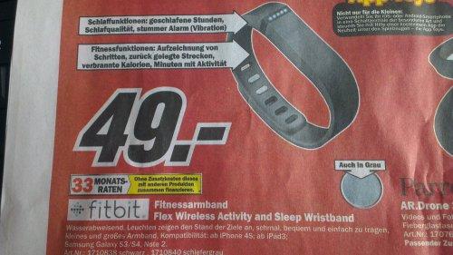 [Media Markt Chemnitz (?)] fitbit Flex Fitnessarmband für 49,-