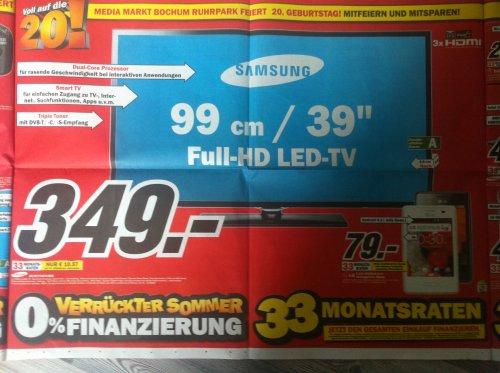 [Lokal Bochum] MediaMarkt LED-TV Samsung UE39F5370