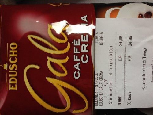 [Lokal?] REWE Dortmund - 1Kg Eduscho Gala Caffé Crema/Espresso ganze Bohnen für 7,99€
