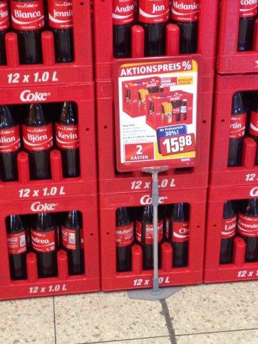 2 Kisten Coca-Cola (24L) für 15,98€ im REWE Bundesweit!