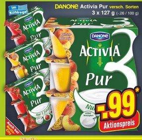 Actimel 8er Globus für 1,29€ / Activia Pur 3er morgen im Netto zu 0,49€