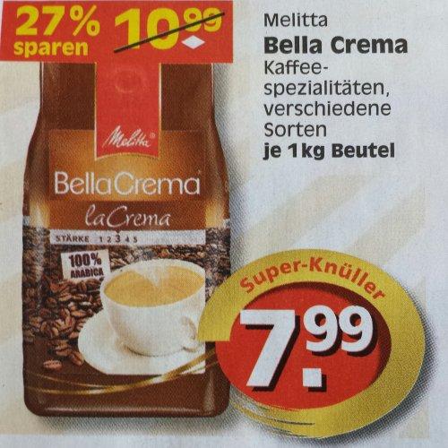 Edeka/Reichelt -  Melitta Bella Crema 1000gr Bohnen diverse Sorten