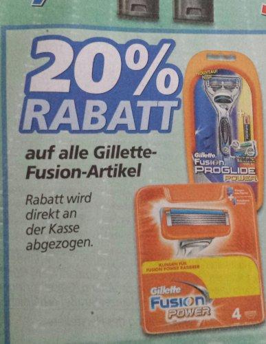 [real/offline] Gilette Fusion auf  alle Produkte  20%