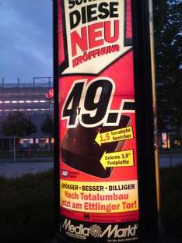 "[Lokal Karlsruhe] Western Digital Festplatte, 1,5 TB, extern 3,5"""