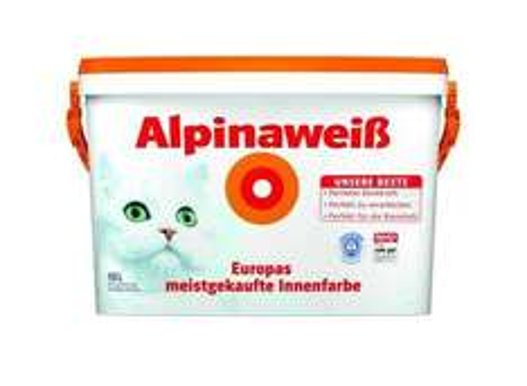 [Nur für OTTO Neukunden] 10L Alpinaweiß Wandfarbe (Die Gute mit der Katze)