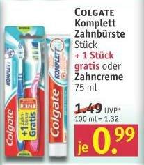 """[Rossmann] ab 15.7  Colgate Zahnbürste """"Komplett - Kariesschutz"""" mit Coupon 2 Stück für 0,49€"""