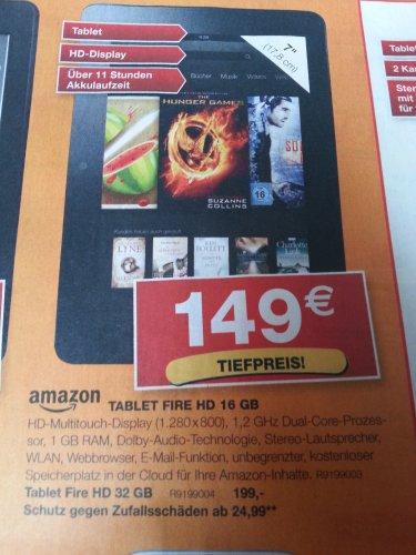 Offline - Kindle Fire Hd 16 GB bei Staples (mit 10% Gutschein 134,10€)