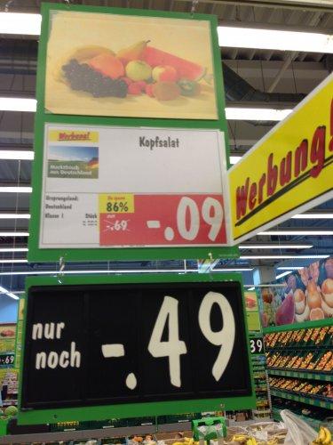 [lokal Trier]  Kopfsalat 0,09€ im Kaufland Trier West
