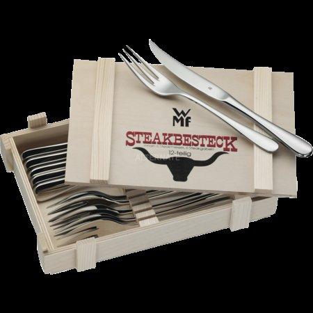 WMF Steakbesteck 12teilig in Holzkiste für 31,90 € @ zackzack