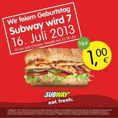 [LOKAL Bad Cannstatt] 1 € Chicken Teriyaki Sub!