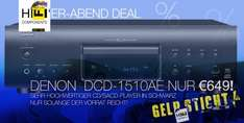 DENON DCD-1510AE für nur 649€ (idealo: 738€)