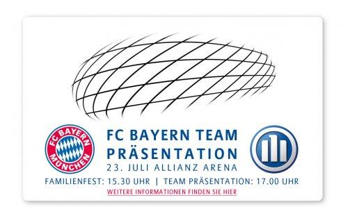 Kostenlos in die Allianz Arena zur Vorstellung des neuen Bayernkaders + öffentliches Training