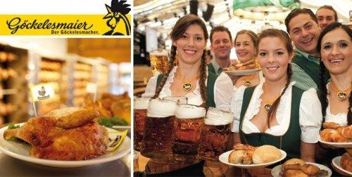 Stuttgart: Cannstatter Volksfest - Tischreservierung für 10 Personen inkl. 10 Maß und 10 halbe Göckele für 99 statt 176 Euro im Festzelt Göckelesmaier