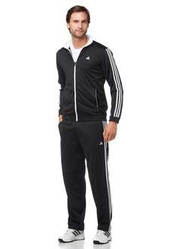 Adidas Trainingsanzug (schwarz und blau)