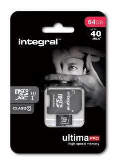Integral 64GB UltimaPro MicroSDXC Class 10 Karte für 48€ @Amazon.co.uk