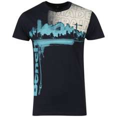 Bench Men's Paint T-Shirt - Navy für 10€ @Zavvi