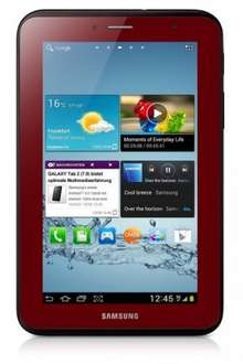 Samsung Galaxy Tab 2 7.0 in Rot!